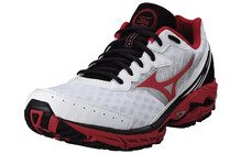Mizuno Men&#039;s Wave Rider 16 white/chinese red/anthracite